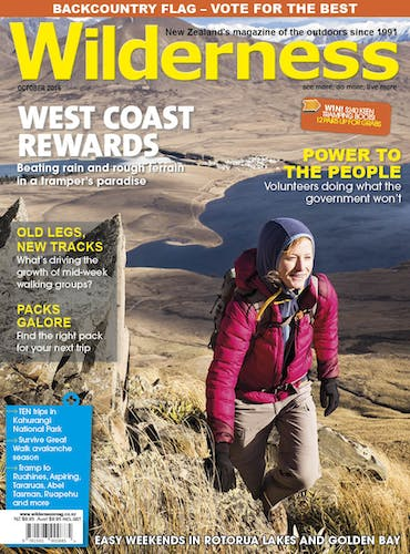 Image of the October 2015 Wilderness Magazine Cover