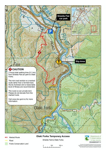 New Otaki Gorge track