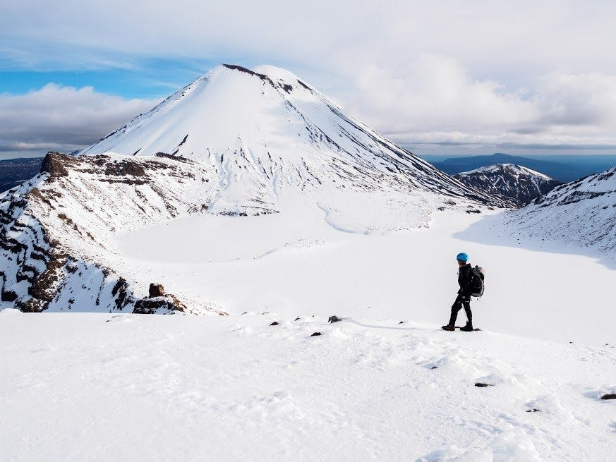 the winter wonderland that is Tongariro National Park - a completely different proposition to summer. Photo: Zhi Yap Yuen