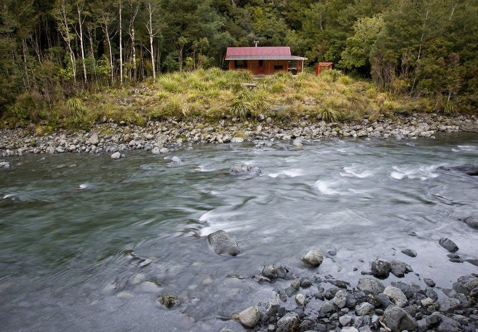 Roaring Stag Lodge in the Tararuas makes a great hideaway hut. Photo: Shaun Barnett