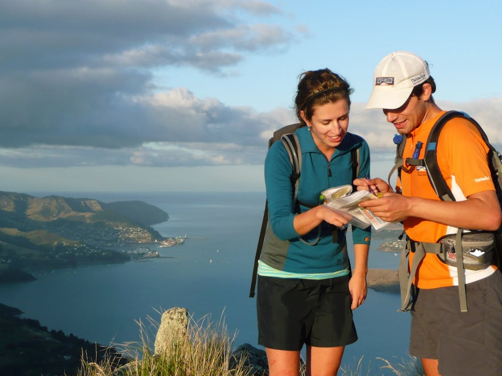 Rogainers Christy McKessar and Tim Farrant plan their approach to their next checkpoint