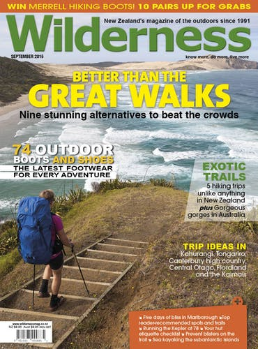 Image of the September 2015 Wilderness Magazine Cover