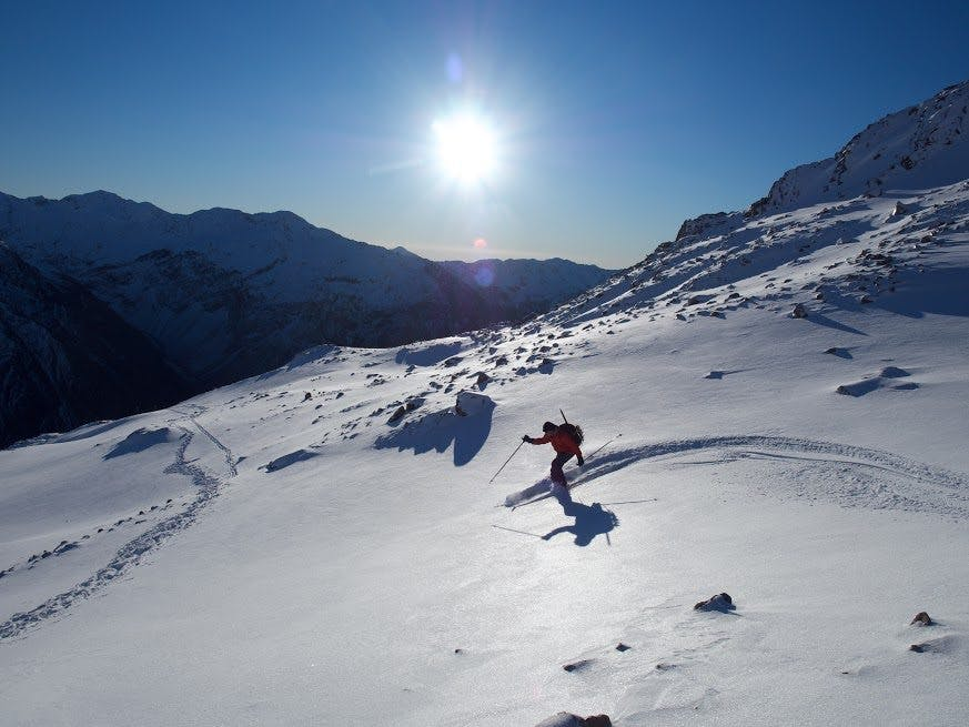 Give ski touring a go and you could find yourself off the groomed trail. Photo: Mitchell Everly