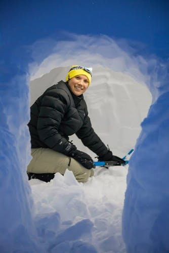 Knowing how to build a snow cave is a handy skill. Photo: Lee Rentz