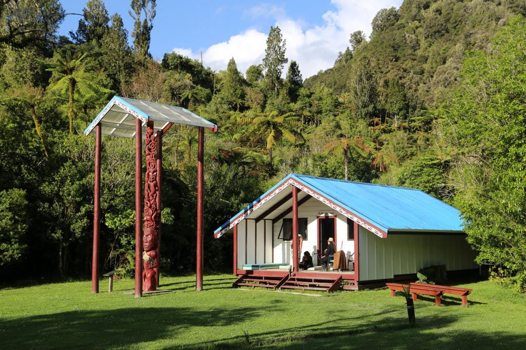 Tieke Kainga marae on a sunny afternoon. Photo: Matthew Pike