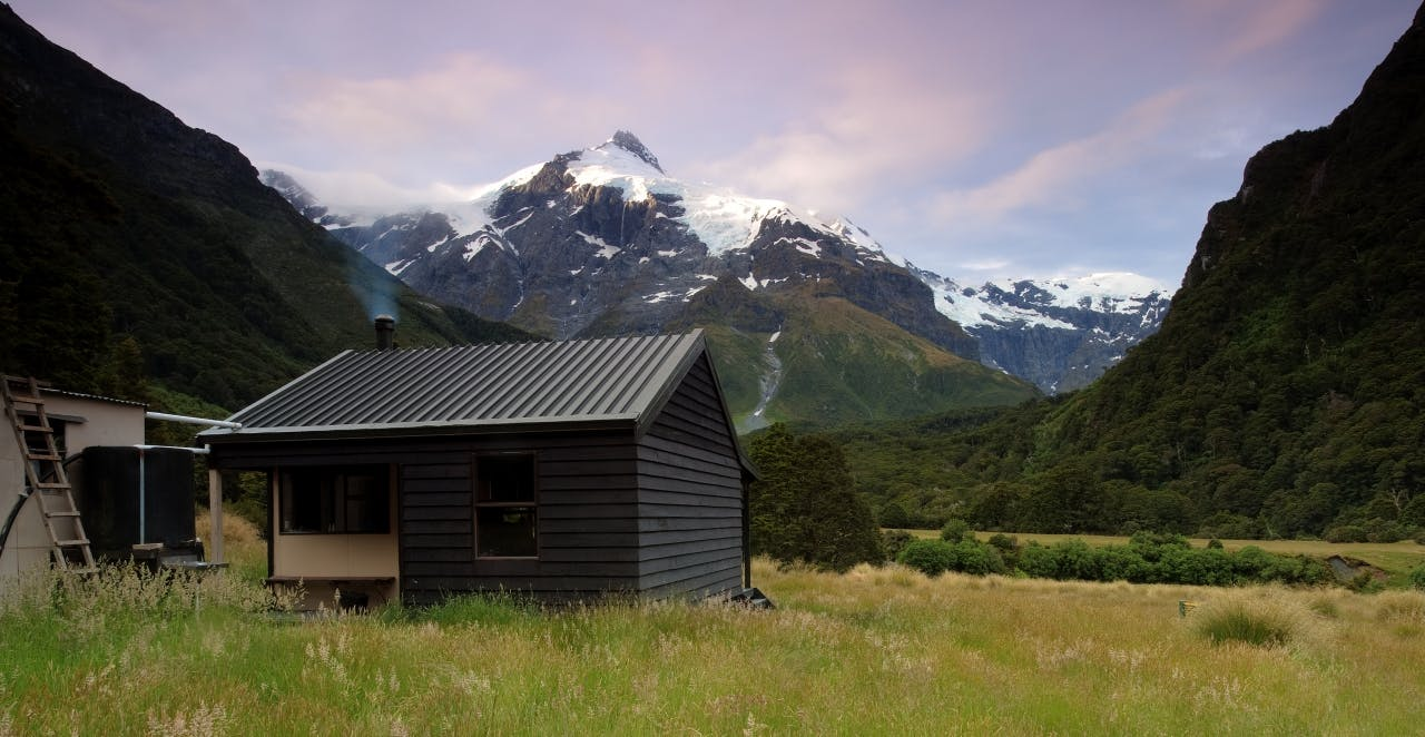 Top Forks Hut on the Young-Wilkin Circuit. Photo: Ray Salisbury