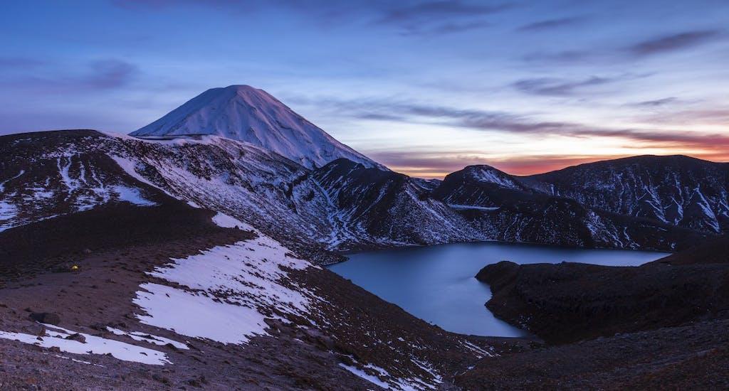 Upper Tama: Upper Tama and Mt Ngauruhoe. Photo: Mark Watson