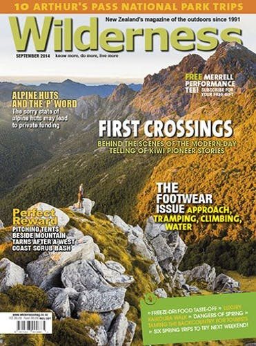 Image of the September 2014 Wilderness Magazine Cover