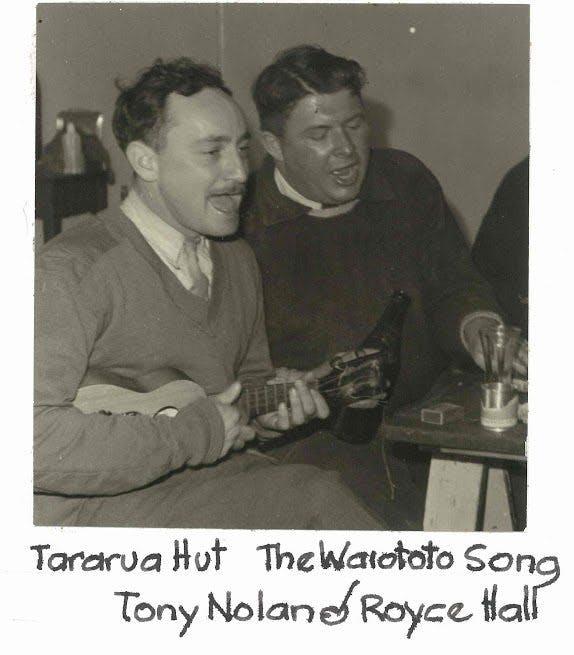 Tony Nolan singing the Waiatoto Song at Tararua. Photo: Paul Mccredie