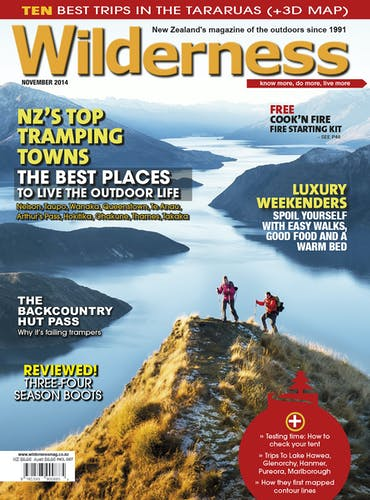 Image of the November 2014 Wilderness Magazine Cover