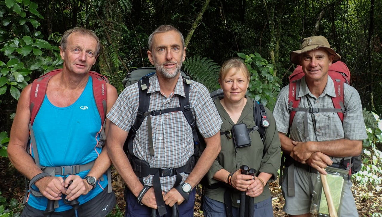 Four of the keenest river climbers – David Harrington, Adam Matich, Jean Garman and Brian Webster. Photo: Supplied