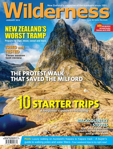 Image of the January 2014 Wilderness Magazine Cover