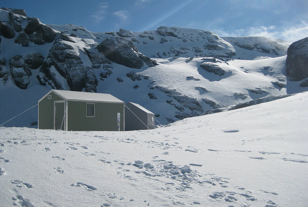 Alpine guide Nick Cradock thinks small huts like the private Robrosa Hut, built for $25,000, could be the answer to mountain accommodation. Photo: Supplied