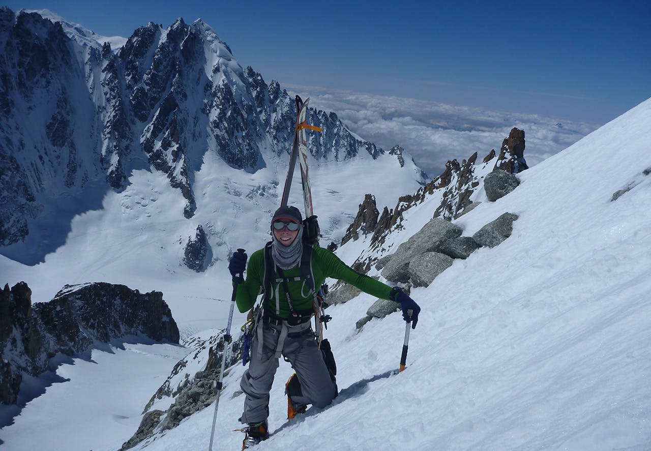 Guide Tim Steward can be climbing the highest peaks one week and snow-shoeing the next. Photo: Jamie Tiplady