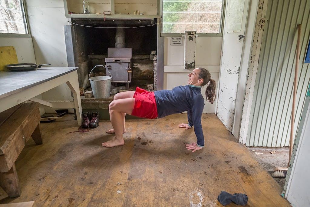 Intense upward plank pose. Photo: Ian Harrison
