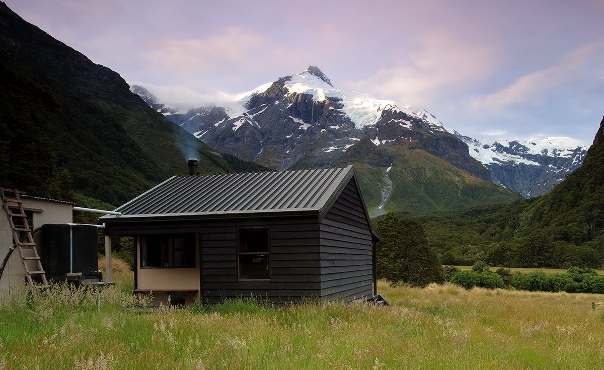 Top Forks Hut near the head of the Wilkin River: a perfect base for daywalks