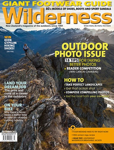 Image of the September 2013 Wilderness Magazine Cover