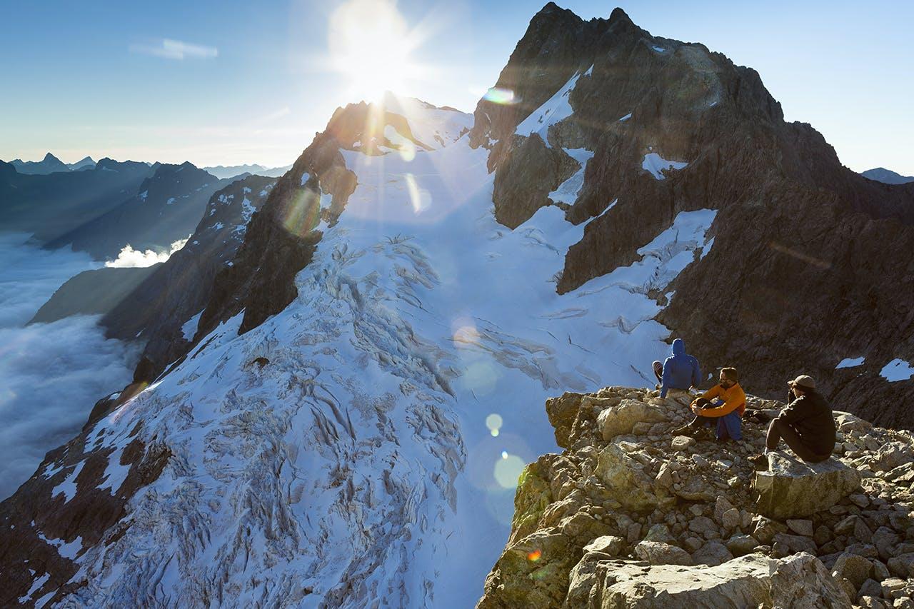 The view into the Taoka Icefall and towards Mounts Patuki and Underwood from the slopes of Karetai. Photo: Mark Watson