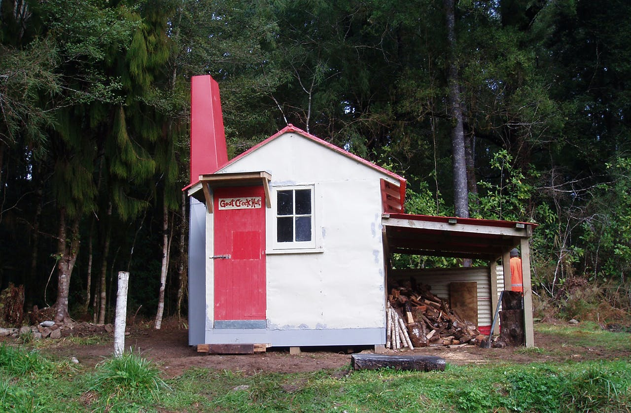 Goat Creek Hut. Photo Supplied