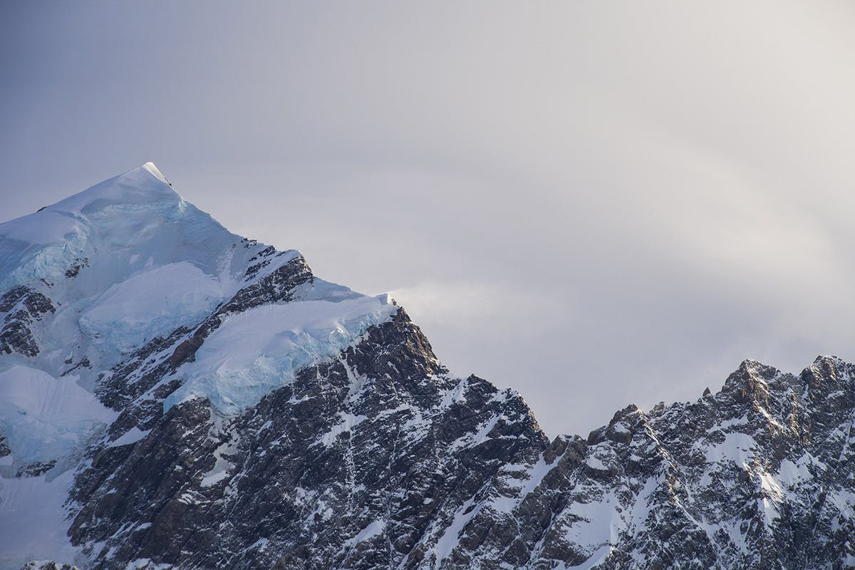 The Hillary Ridge route to the summit of Mt cook has seen just a handful of ascents in the last 30 years. Photo: Mark Watson