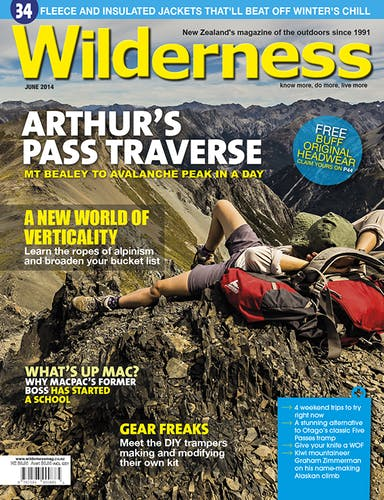 Image of the June 2014 Wilderness Magazine Cover