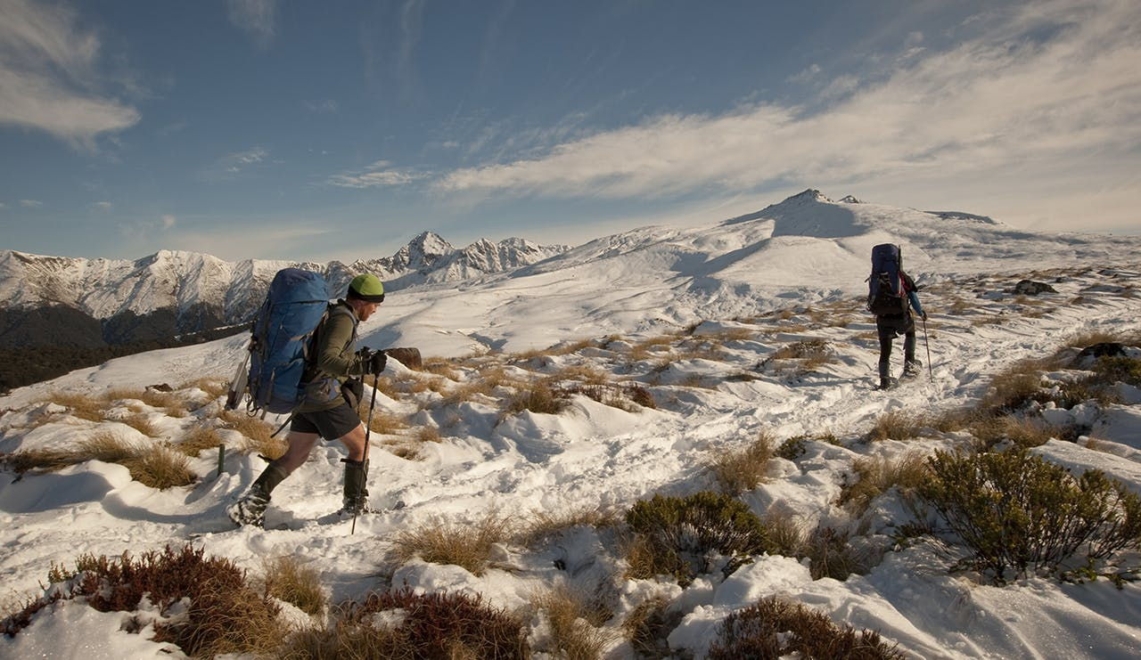 Tramping the Kepler in winter is a unique way to experience this Great Walk. Photo: Shaun Barnett/Black Robin Photography