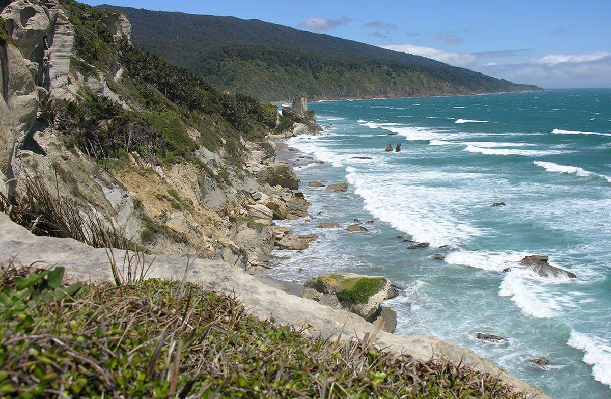 It's an adventurous four-hour walk down the beach to reach Kahurangi Point. Photo: Supplied