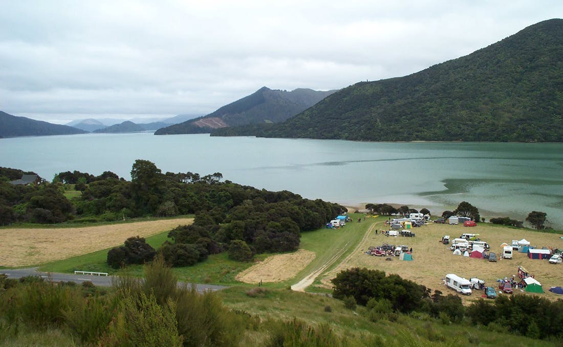 There are 18 tent sites at Kenepuru Head. Photo: Supplied