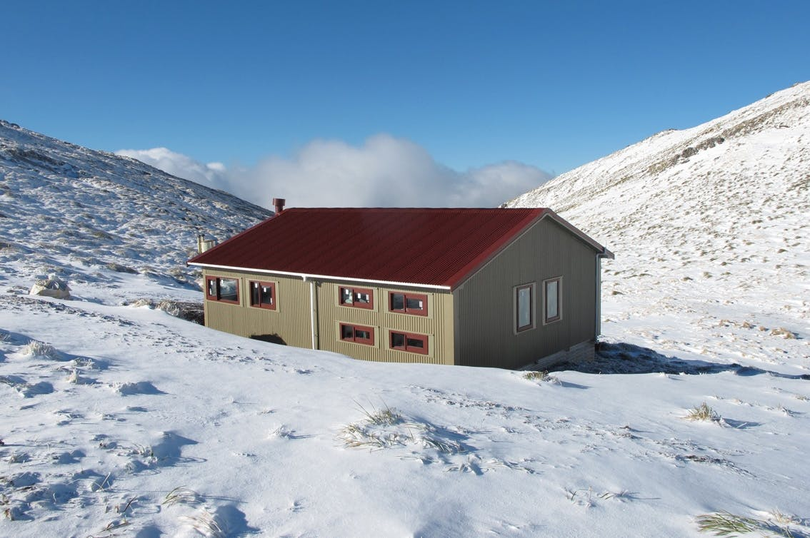 Almost there - the new Kime Hut should be ready soon. Photo: Supplied