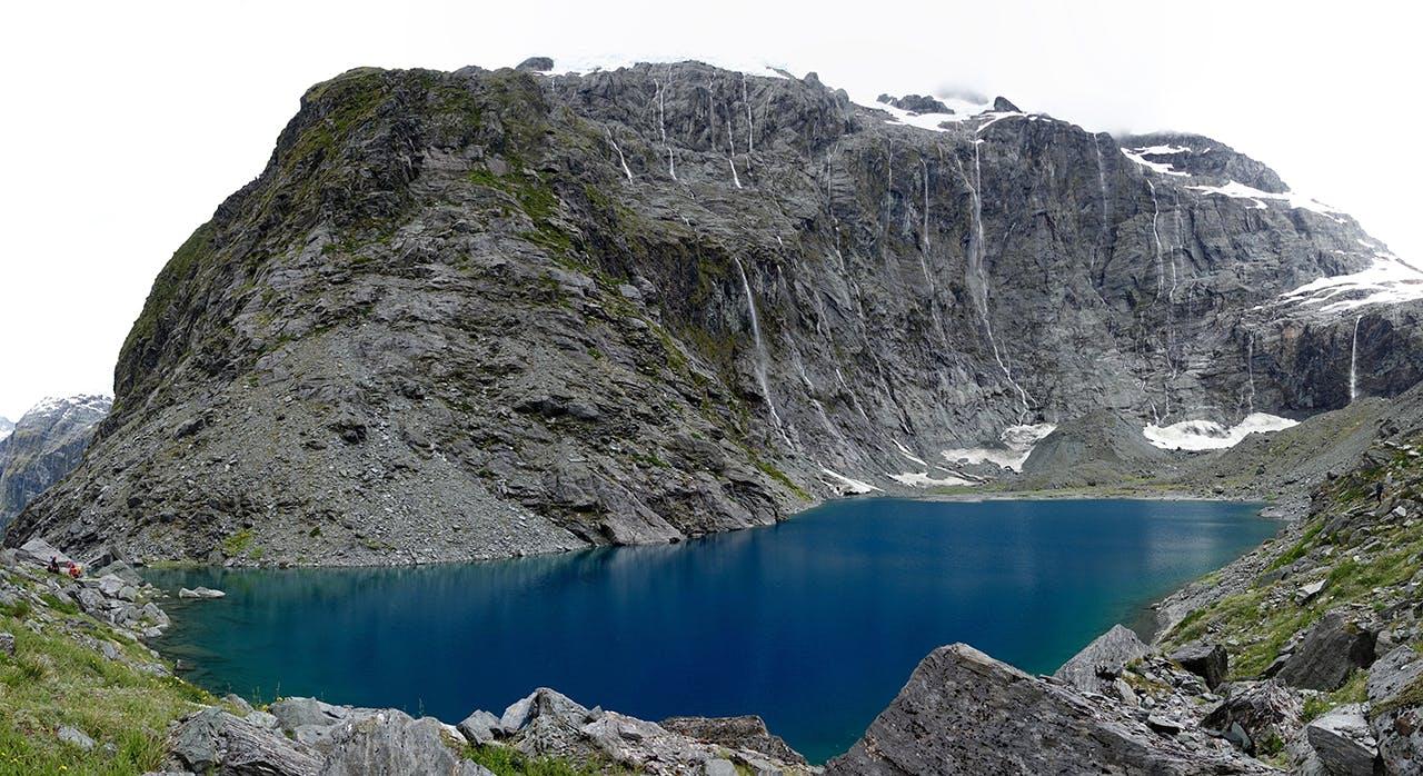 The glacier-fed Lake Castalia. Photo: Hamish Cumming