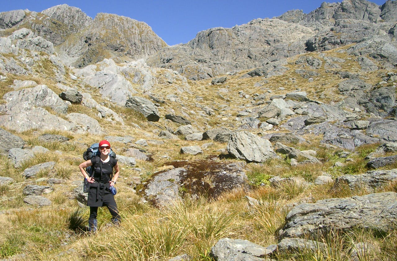 Lauren Schaer says she feels safer when tramping on her own – she's more alert and doesn't shirk responsibility. Photo: Supplied