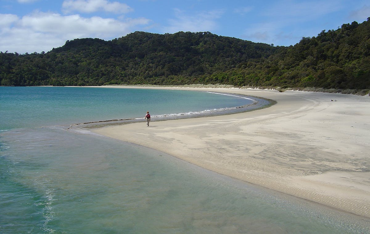 Maori Beach is a remote and peaceful location far from roads and traffic. Photo: Neville Peat