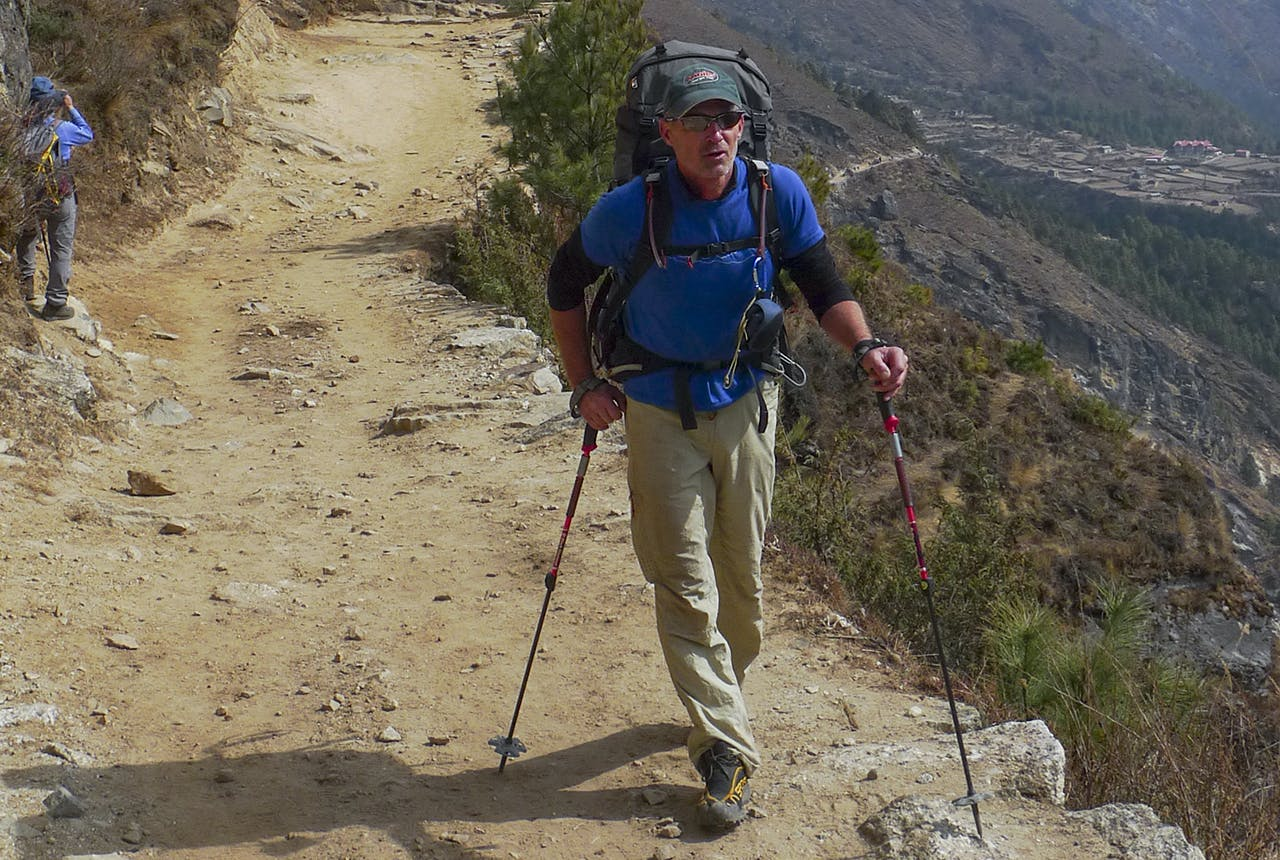 Marty Schmidt helped break up the fight, saying everyone needs to work together to make Everest safe for all. Photo: Supplied