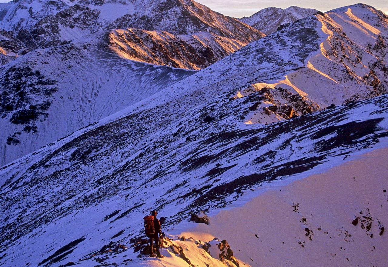 Walking a wintry Mt Fyffe, . Photo: Shaun Barnett/Black Robin Photography