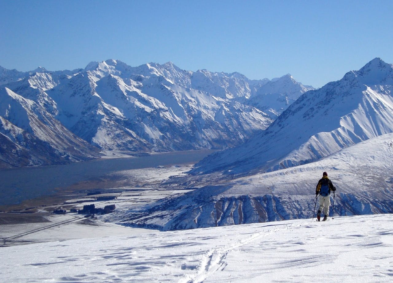 The terrain around Rex Simpson Hut is low risk and suitable for Photo: Di Hooper