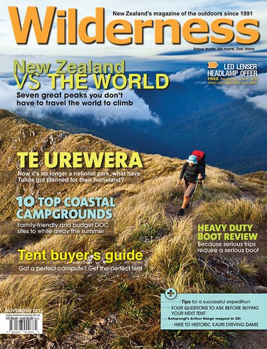 Image of the November 2013 Wilderness Magazine Cover
