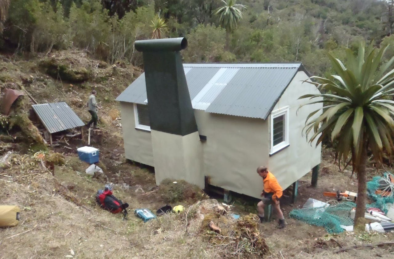 Cone Creek Hut received some much-needed TLC. Photo: DOC