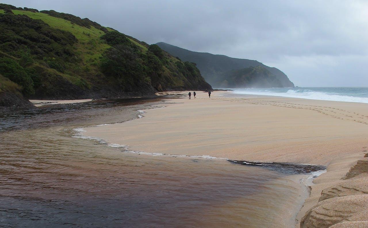 Skirting Waitahora Lagoon, western end of Te Horo Beach. Photo: Wayne Pooley