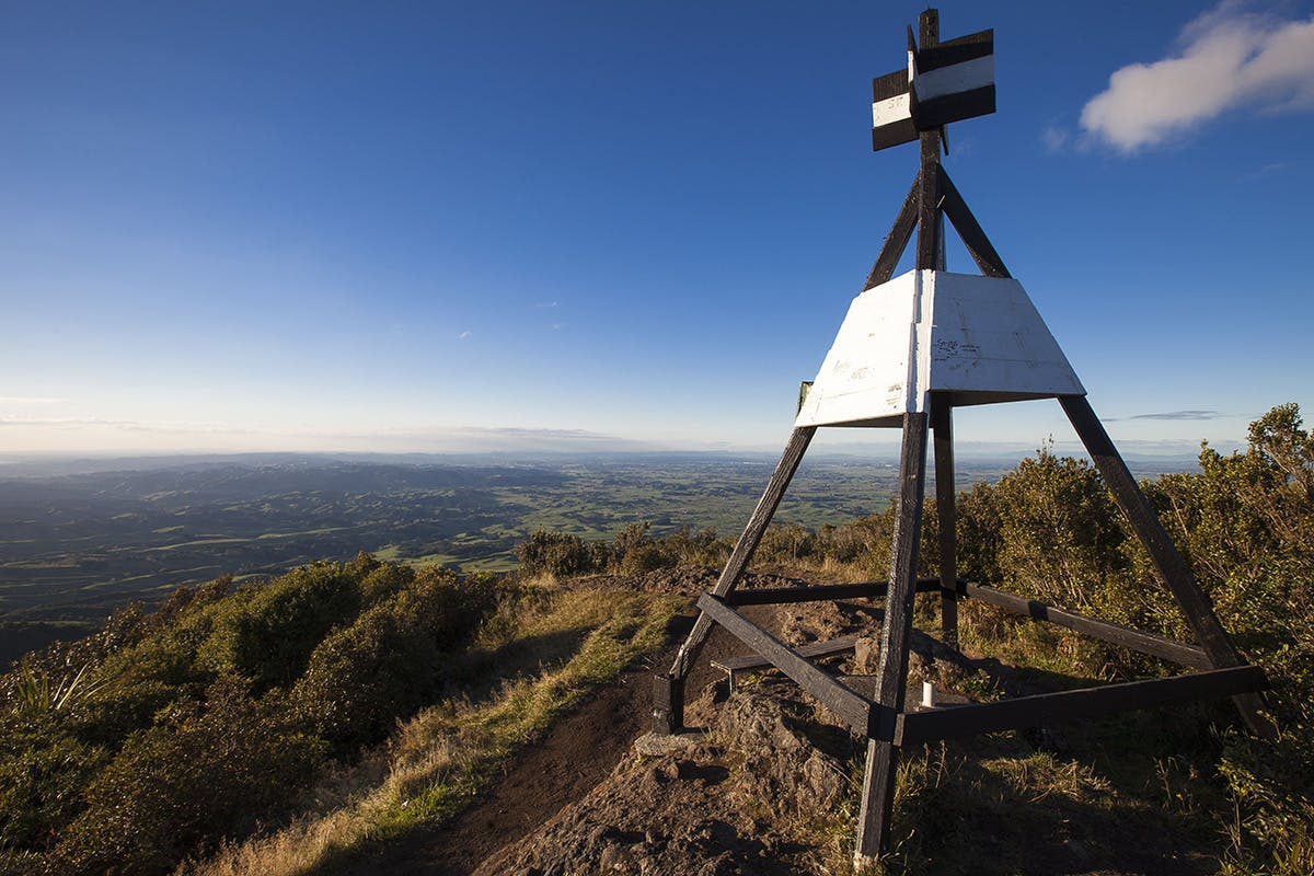 Views from Pirongia, the Waikato's highest mountain, are extensive. Photo: Mark Watson