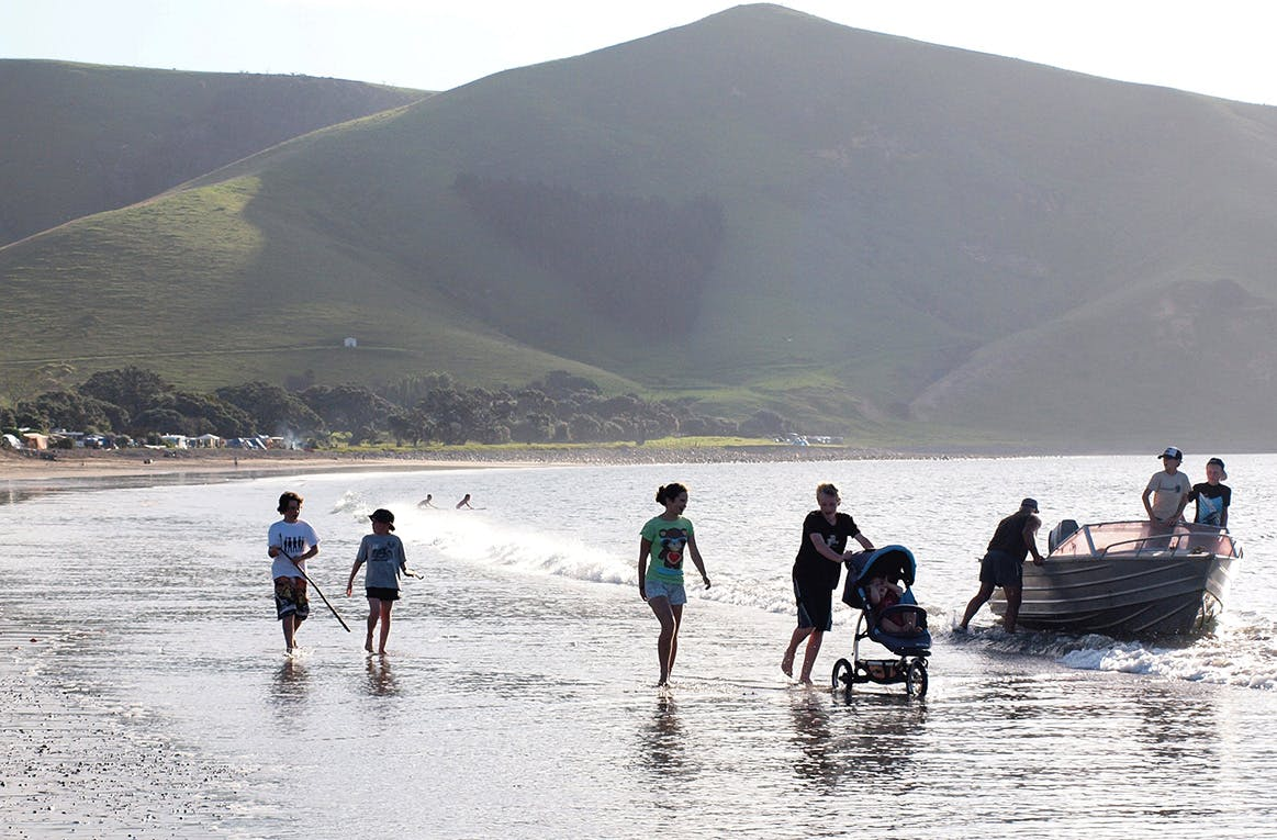 Classic coastal Kiwi camping can be found at Port Jackson. Photo: Supplied