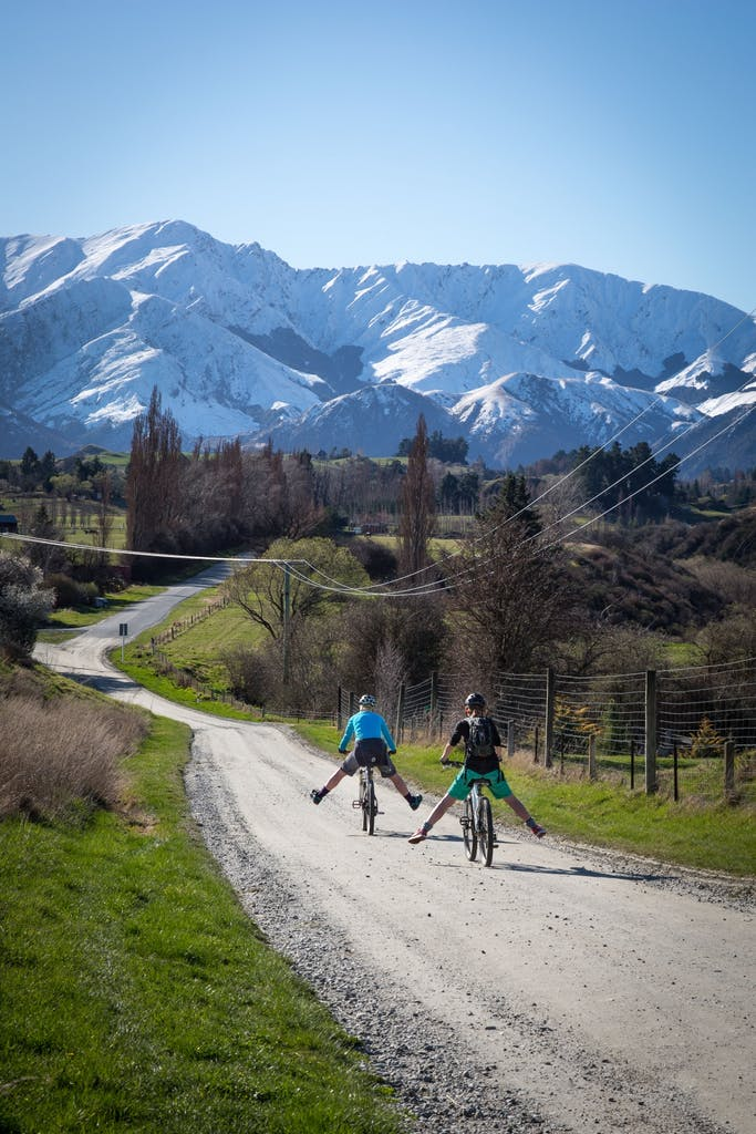 Having fun on the Queenstown Trail in Otago Photo: Jim Pollard