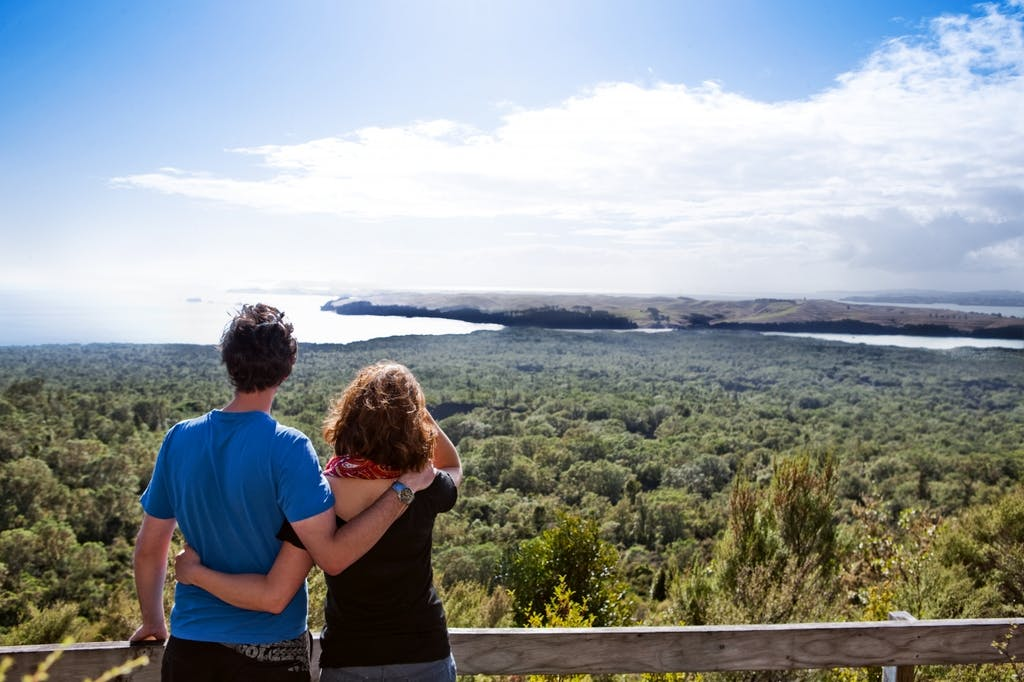 Cap: Auckland Mayor Len Brown a three-day walk on Rangitoto and Motutapu islands will add to the islands' appeal