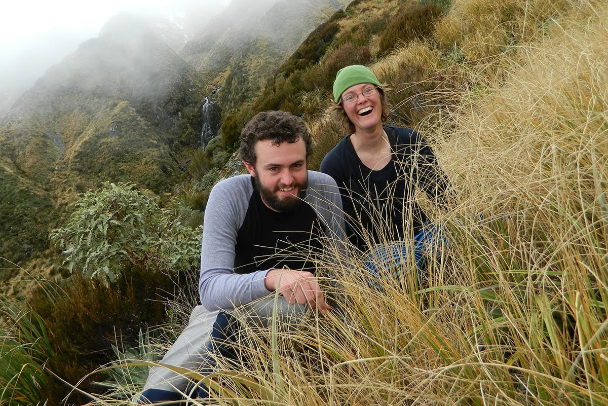 Rose Pearson and her brother Nelson on Zit Saddle, not long before their horrific accident. Photo: Supplied