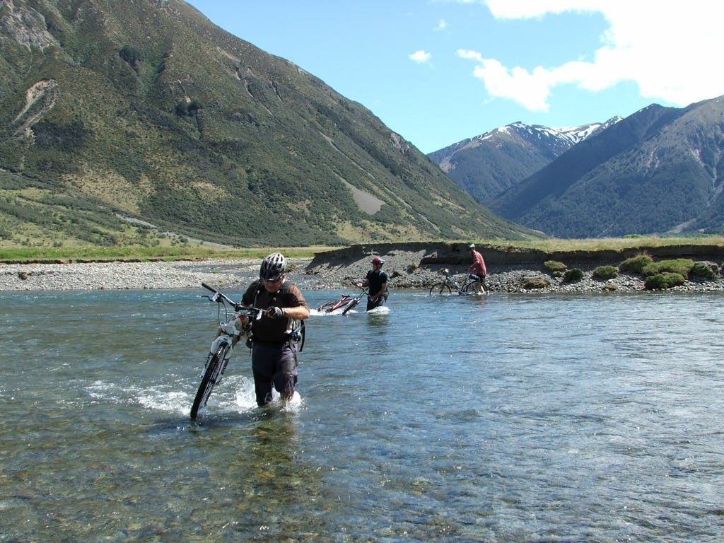 A new bridge means cyclists no longer need to get wet feet to cross the Waiau River on the St James Trail Photo: John Dunn