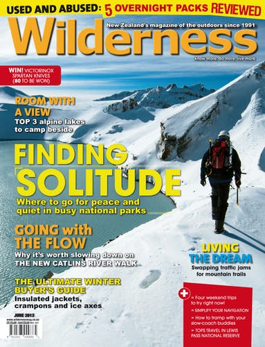 Image of the June 2013 Wilderness Magazine Cover