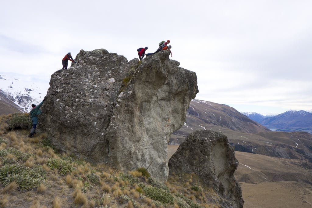 Dog Rock is a worthwhile climb on the way up Rat Hill. Photo: Supplied