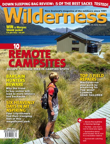 Image of the April 2013 Wilderness Magazine Cover