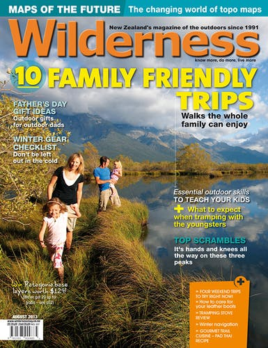 Image of the August 2013 Wilderness Magazine Cover