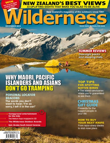 Image of the December 2013 Wilderness Magazine Cover
