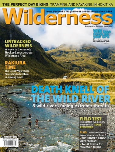 Image of the February 2013 Wilderness Magazine Cover
